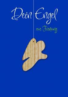 Grußkarte Firmung Dein Engel zur Firmung (5 Stck) Holz-Anhänger Glückwunsch