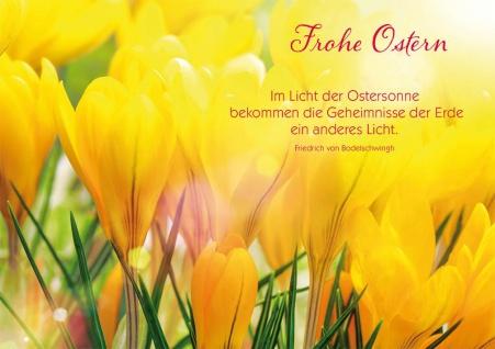 Postkarte Ostern 10 St Adressfeld Friedrich von Bodelschwingh Auferstehung Gott