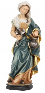 Heilige Zita Holzfigur geschnitzt Südtirol Schutzpatronin Dienstmagd