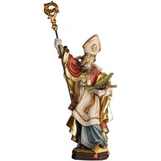 Heiliger Kilian mit Schwert und Palme Holzfigur geschnitzt Südtirol Schutzpatron