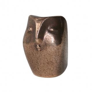 Eule Handschmeichler Bronze 5 cm Tierfigur aus Bronze Statue Skulptur