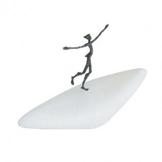 Bronzeskulptur Unterwegs zu neuen Horizonten 27 cm Bronze Figur