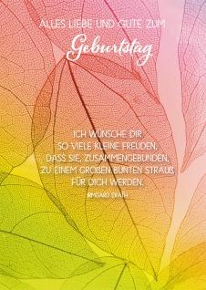 Postkarte Alles Liebe und Gute zum Geburtstag (10 St) Blätter Irmgard Erath