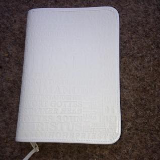 Gotteslobhülle Jesus Kunstleder Weiß Gesangbuch Einband