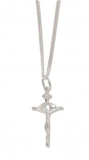 Kreuz Schmuck Anhänger Corpus Jesu Christ Silber Kette 50 cm Kruzifix