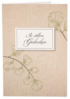 Trauerkarte In stillem Gedenken (6 St) Papier Grußkarte Kuvert