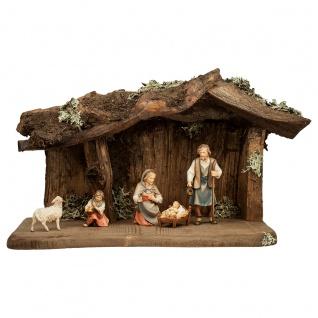 Hirten Krippe Set 7 Teile Holzfigur geschnitzt Südtirol Weihnachtskrippe - Vorschau