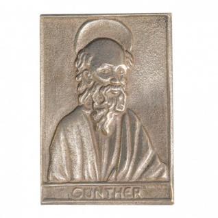 Namenstag Günther 8 x 6 cm Bronzeplakette Namenstag Geschenk