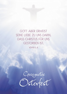 Postkarte Gesegnetes Osterfest (10 St) Leuchtender Christus am Himmel Römer