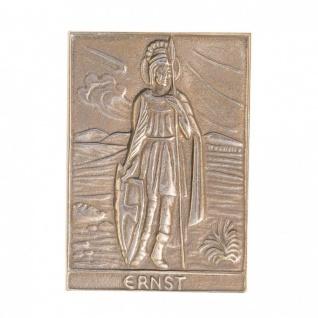 Namenstag Ernst 8 x 6 cm Bronzeplakette Bronzerelief Wandbild Schutzpatron