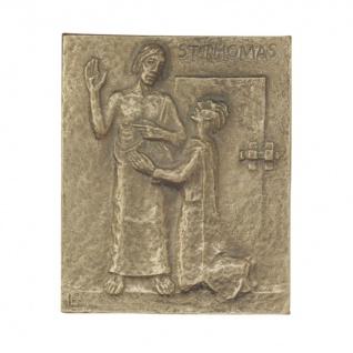 Namenstag Thomas 13 x 10 cm Bronzerelief Wandbild Schutzpatron