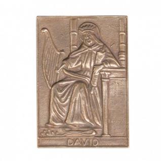 Namenstag David 8 x 6 cm Bronzeplakette