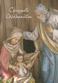 Glückwunschkarte Heilige Familie Gesegnete Weihnacht (6 Stück) Grußkarte Kuvert