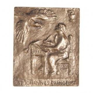 Namenstag Johannes der Evangelist Bronze 13 x 10 cm