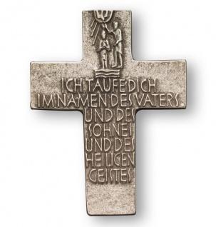 Wandkreuz Taufe Taufkreuz Neusilber Taufspruch 12 cm Kreuz Blum Willibald