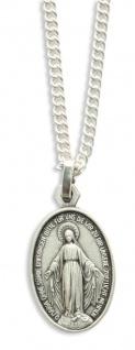 Maria Empfängnis Medaille oxydiert oval 1, 9 cm Religiöser Schmuck