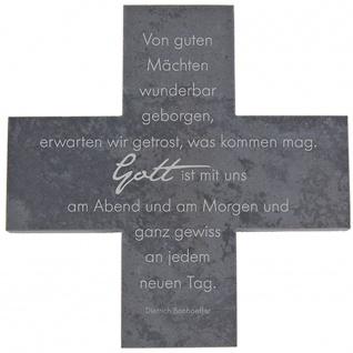 Wandkreuz Schiefer Bonhoeffer Von guten Mächten Kreuz 12 cm Kruzifix Christlich