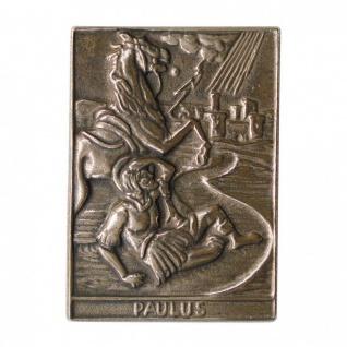 Namenstag Paulus 8 x 6 cm Bronzeplakette