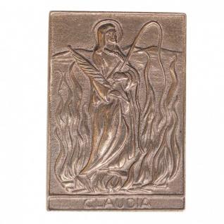 Namenstag Claudia 8 x 6 cm Bronzeplakette Bronzerelief Wandbild Schutzpatron - Vorschau