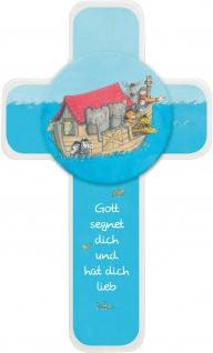 Kreuz für Kinder Arche Noah 18 cm Kruzifix Holz-Kreuz Geschenkbox