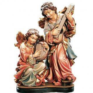 Engelgruppe musizierend Holzfigur geschnitzt Südtirol