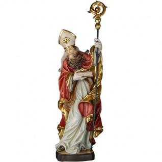 Heiliger Irenäus Holzfigur geschnitzt Südtirol Bischof Kirchenvater