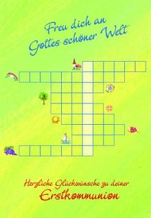 Kommunionkarte Herzliche Glückwünsche Kommunion (6 Stck) Erstkommunion Grußkarte
