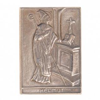 Namenstag Helmut 8 x 6 cm Geschenk Bronzerelief Wandbild Schutzpatron