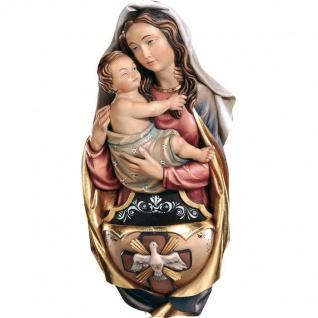 Weihwasserkessel Madonna Holzfigur geschnitzt Südtirol