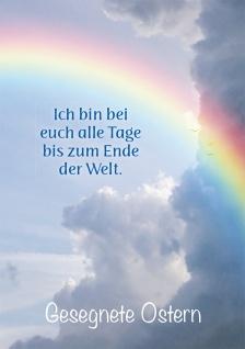 Postkarte Matthäus Lutherbibel Gesegnete Ostern Regenbogen 10 Stück