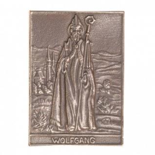 Namenstag Wolfgang 8 x 6 cm Bronzeplakette