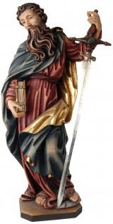 Heiliger Paulus Holzfigur geschnitzt Südtirol Schutzpatron Apostel