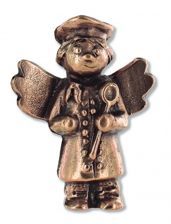 Schutzengel Koch Bronze-Engel 4, 6 cm Engel Figur Bronze Handschmeichler
