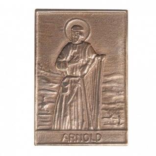 Namenstag Arnold 8 x 6 cm Bronzeplakette Bronzerelief Wandbild Schutzpatron
