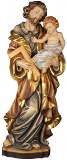 Heiliger Josef mit Kind Holzfigur geschnitzt Südtirol Schutzpatron Bräutigam