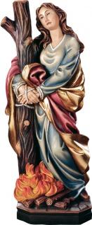 Heilige Thekla Heiligenfigur Holz geschnitzt Schutzpatronin Glaubensbotin