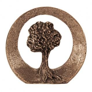 Steh-Plakette Lebensbaum Bronze rund 8 cm Handarbeit Andrea Zrenner
