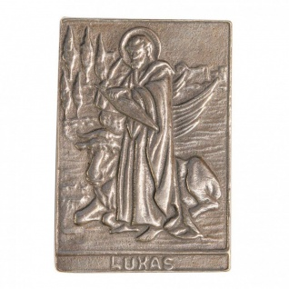 Namenstag Lukas 8 x 6 cm Geschenk Bronzerelief Wandbild Schutzpatron