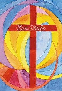 Glückwunschkarte Zur Taufe Kreuz Daniel Grußkarte (6 Stück) Kuvert
