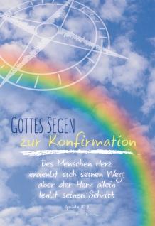 Konfirmation Grußkarte Gottes Segen zur Konfirmation (6 St) Regenbogen Kompass