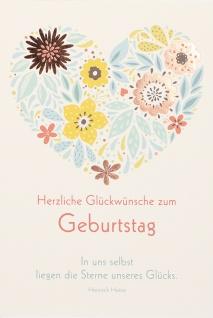 Geburtstagskarte Heine Herzliche Glückwünsche (6 Stck) Glückwunschkarte Kuvert - Vorschau