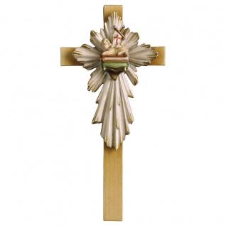 Kreuz Osterlamm Holzkreuz geschnitzt Südtirol Kruzifix Wandkreuz
