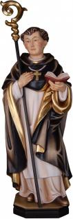 Dominikaner Abt Heiligenfigur Holz geschnitzt handbemalt Südtirol