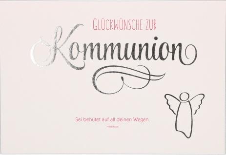 Glückwunschkarte Engel Glückwünsche zur Kommunion (6 Stück) Grußkarte mit Kuvert