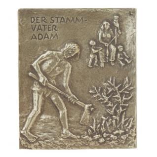 Namenstag Adam 13 x 10 cm Namenspatron Bronzerelief Wandbild Schutzpatron