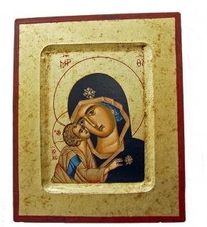 Ikone Madonna, Vladimir 17 x 14 cm Griechenland