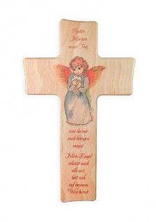 Kinderkreuz Guten Morgen neuer Tag Buche 15cm 20 cm Wandkreuz Holz Kreuz Mädchen