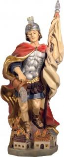 Heiliger Florian mit Haus handbemalt 28 cm Schutzpatron der Feuerwehr - Vorschau