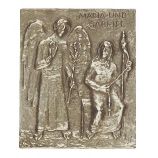 Namenstag Maria Gabriel 13 x 10 cm Bronzerelief Wandbild Schutzpatron