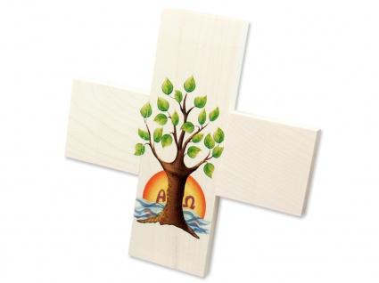 Kreuz für Kinder Lebensbaum 12 cm Kruzifix Holz-Kreuz Wandkreuz